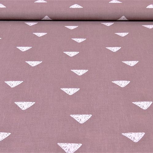 Baumwolle Dreiecke auf rosa 0,5m