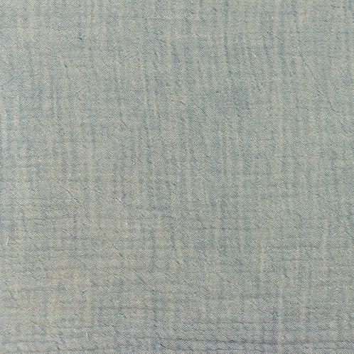 Musselin meliert jeans 0,5m