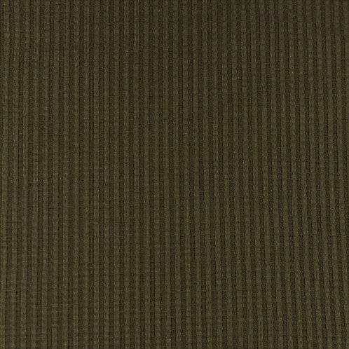 Waffeljersey uni army dunkel 0,5m