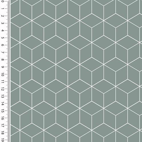 Baumwolle Popeline Cube altgrün 0,5m