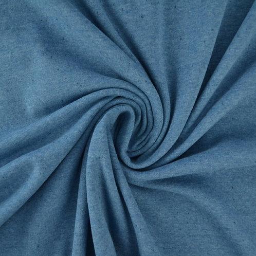 Jersey mit Sprenkel blau 0,5m