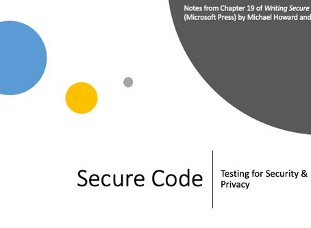 Notes on Testing Code for Security