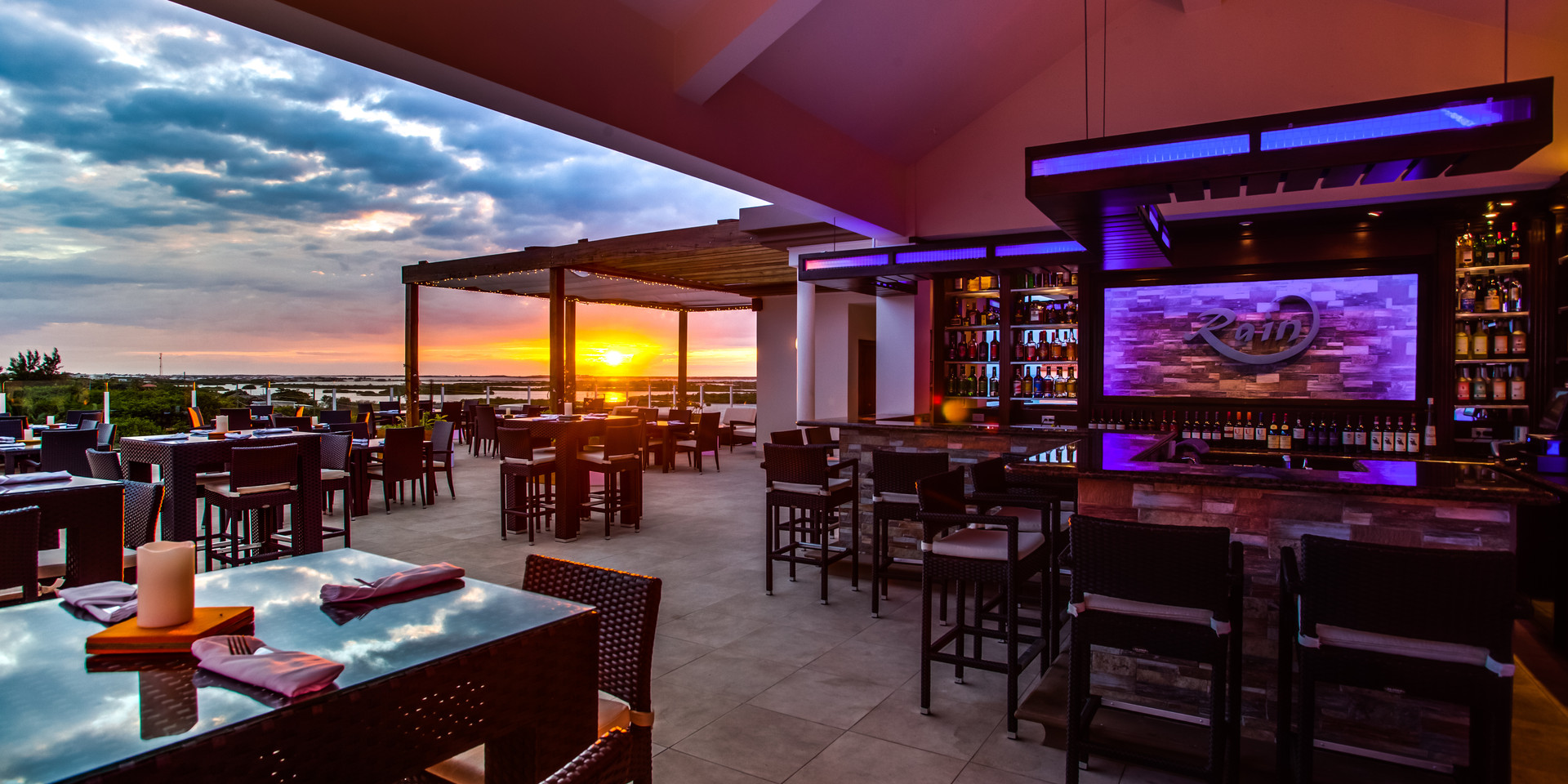 RAIN restaurant. Perfect for sunset views!