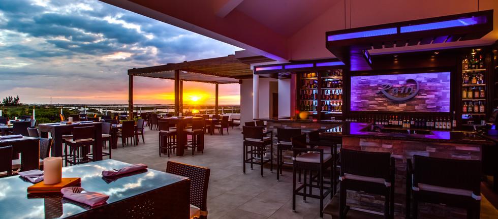 RAIN restaurant. Perfect for sunset views!