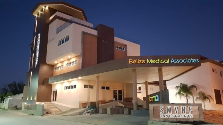 The Belize Medical Assoc. Building located behind Belvoir North.