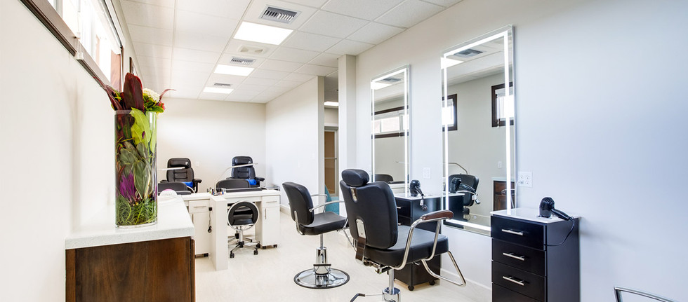 Enjoy spa & salon services in the new facility.