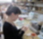 portrait Lise Chevalier dans l'atelier d