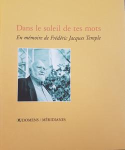 En mémoire de Frédéric Jacques Temple