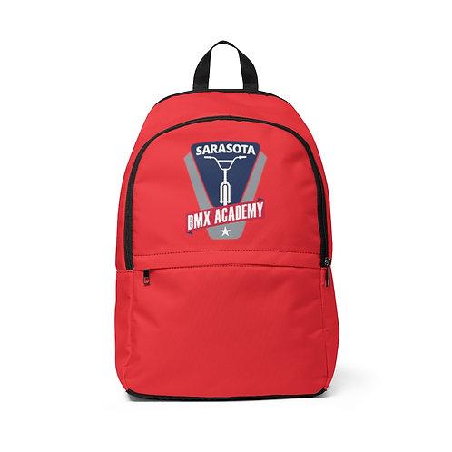 Unisex Fabric Backpack Red  I  Sarasota BMX Academy