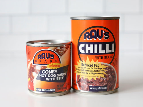 Ray's Reduced Fat Chilli & Ray's Brand Coney Hot Dog Sauce Combo