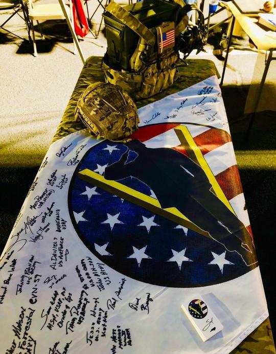 The SPVP Flag Signed by Community Veterans