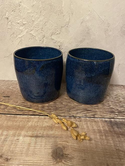 Yunomi mug / hand cup - blue