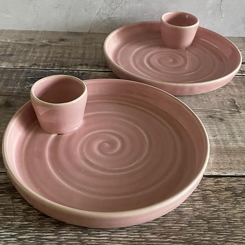 Egg plates - pink