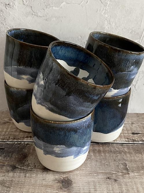 Yunomi mug / hand cup - Coastal design
