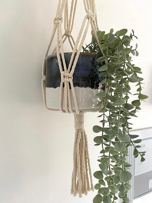 Macrame plant pot hanger (pots sold seperately)