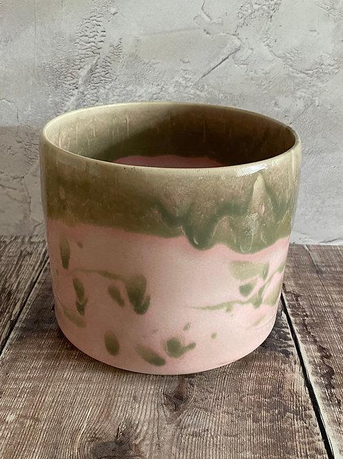Plant pot - pink/grey