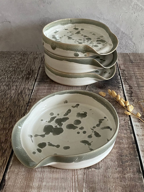 Spoonrest - grey splatter
