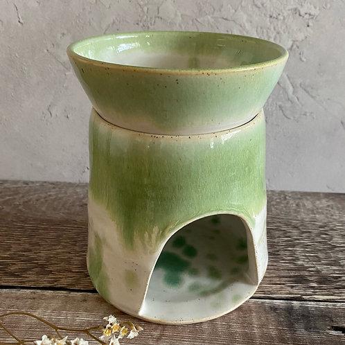 Waxmelt burner - green/white