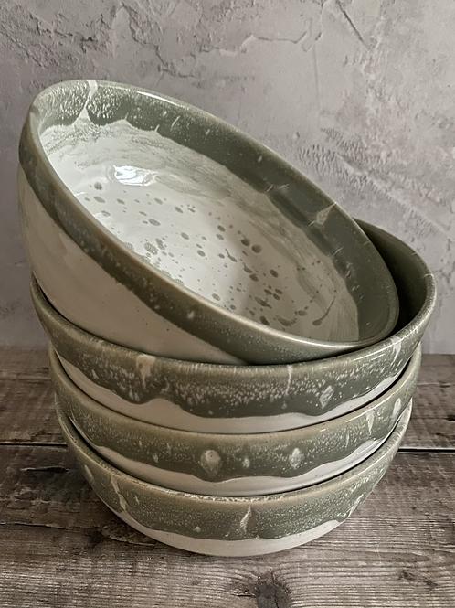 Pasta Bowl - Sea-foam design (individual)