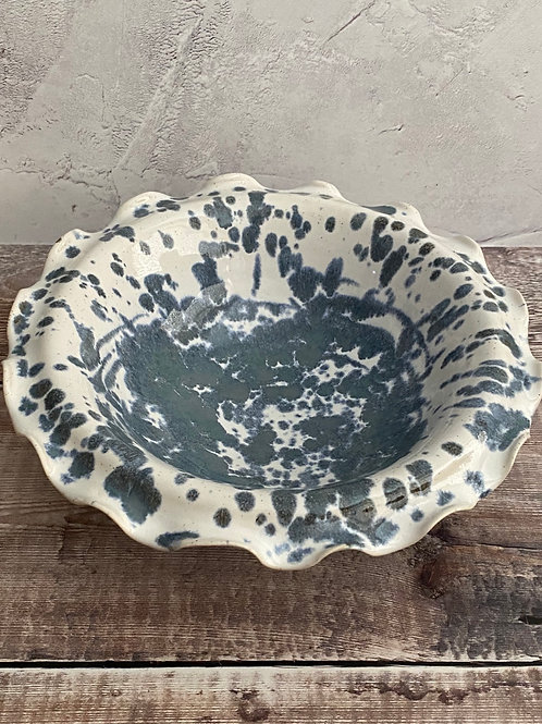 Wavy rimmed bowl - one off