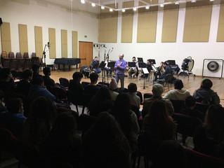 Conocido clarinetista trasandino dicta taller a la sección de vientos de la Orquesta Sinfónica Unive