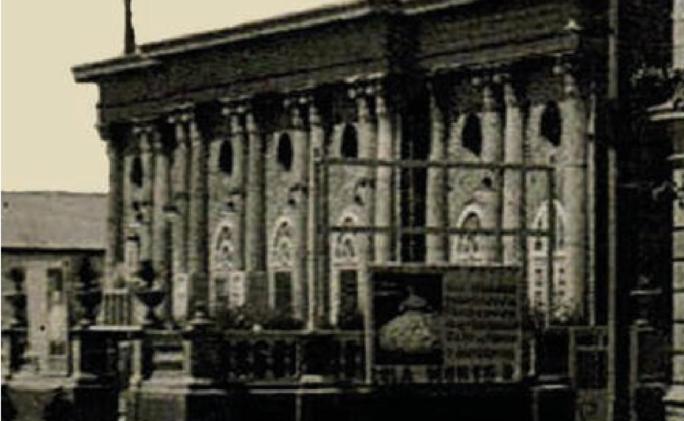 Fachada del Teatro hacia 1940