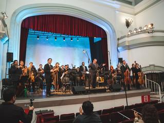 Maestro Alejandro Bianchi y Orquesta Sinfónica Universidad de La Serena deslumbraron a habitantes de