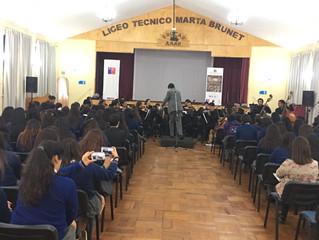 Liceos públicos disfrutan de las obras de Beethoven junto a la Orquesta Sinfónica Universidad de La