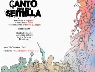Orquesta Sinfónica Universidad de La Serena homenajeará a Luis Advis y Violeta Parra en 'Canto para
