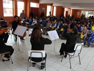 Escolares y profesores de música de La Serena disfrutaron de conciertos educacionales y charlas moti