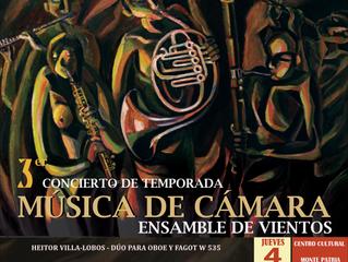 Monte Patria y La Serena serán escenario del 3er Concierto de Temporada de Cámara