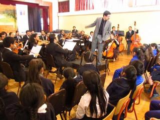 Orquesta Sinfónica Universidad de La Serena llenó de música a dos colegios municipales de la conurba