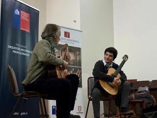 Importante concertista nacional comparte con estudiantes y músicos en exitoso máster class