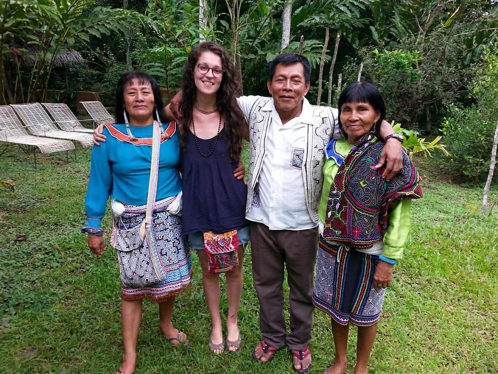 Ayahusaca retreat in Tarapoto, Peru at Tierra Mitica with Shipibo maestras and maestro jungle mountains handmade artisan items traveler tourist