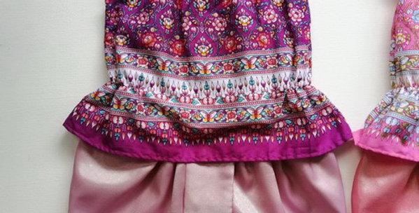 ชุดไทยเด็ก J9-purple/pink