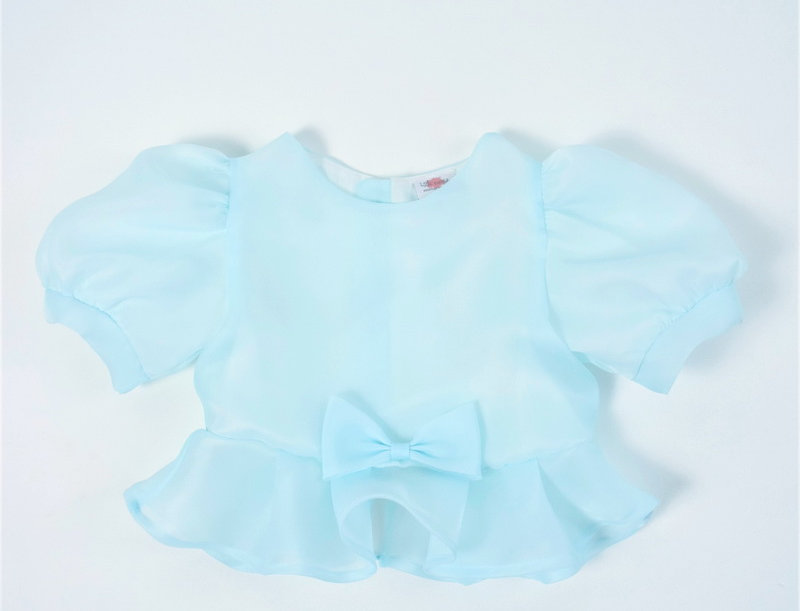 metta blouse - aqua blue