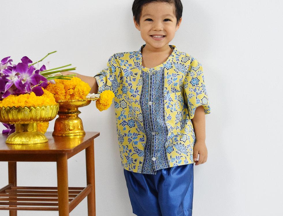 ชุดไทยเด็ก Yala-yellow/blue