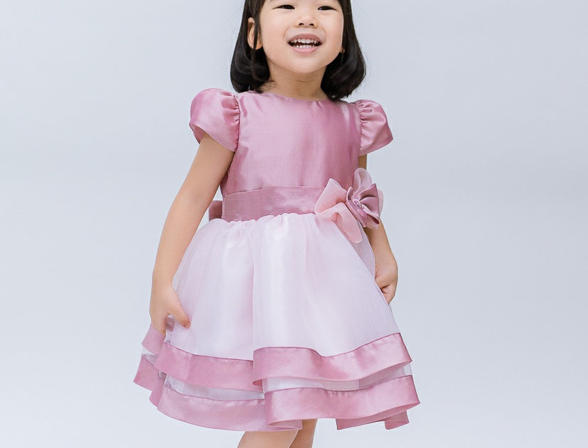 ชุดราตรีเด็ก E2107 -pink