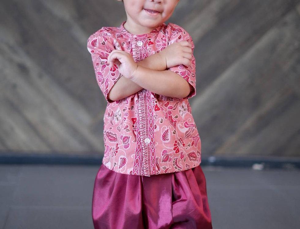 ชุดไทยเด็กชาย SK2104B- Pink