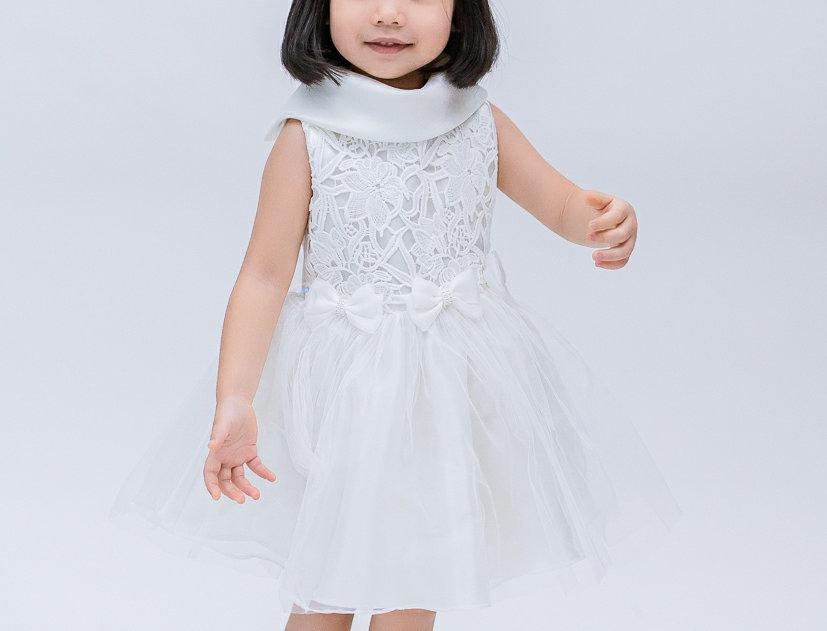 ชุดราตรีเด็ก E2109 - white