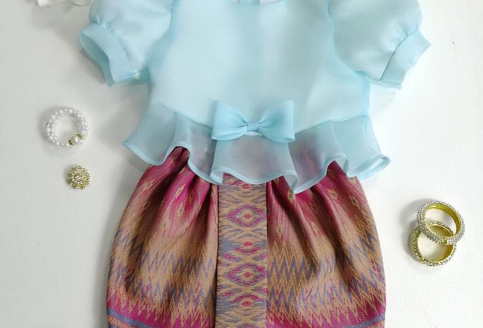 ชุดไทยเด็ก Metta- Blue/Pink