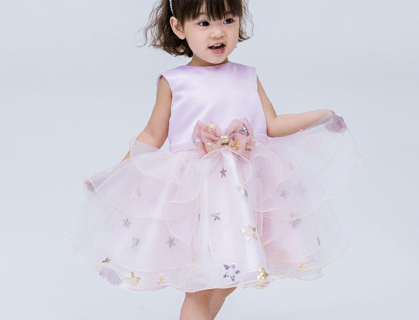 ชุดราตรีเด็ก K1809- pink