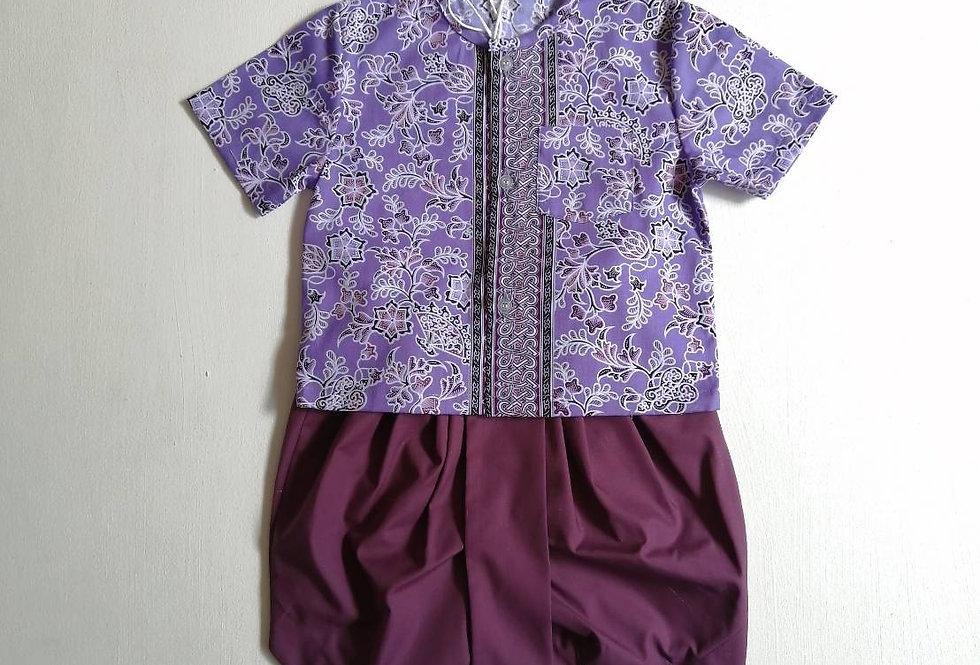 ชุดไทยเด็กชาย SET4-Purple