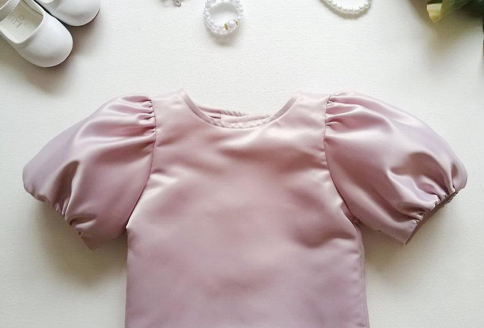 ชุดไทยเด็ก เสื้อรุ่น Tulip - dusty pink