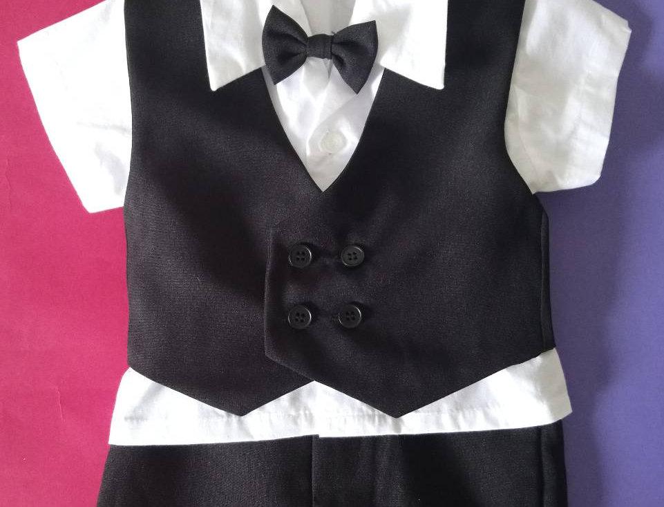 (Vest suit) TH001 Black
