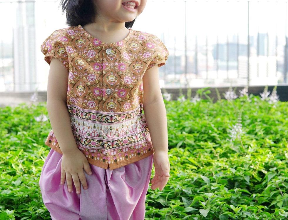 ชุดไทยเด็กหญิง J2 Mali - Peach