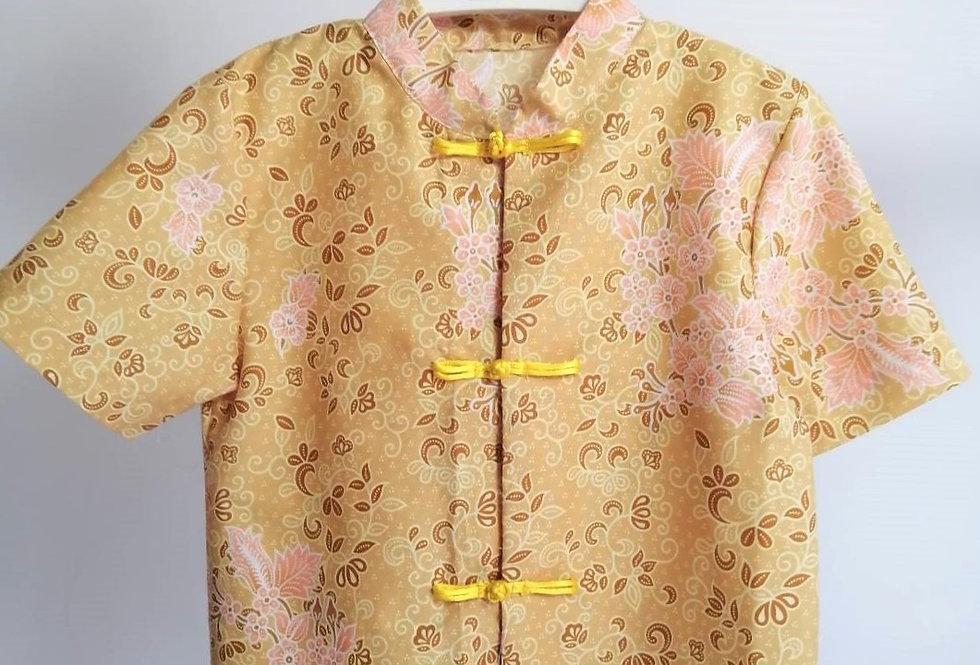 เสื้อตรุษจีนเด็กชาย สีทอง -AP1