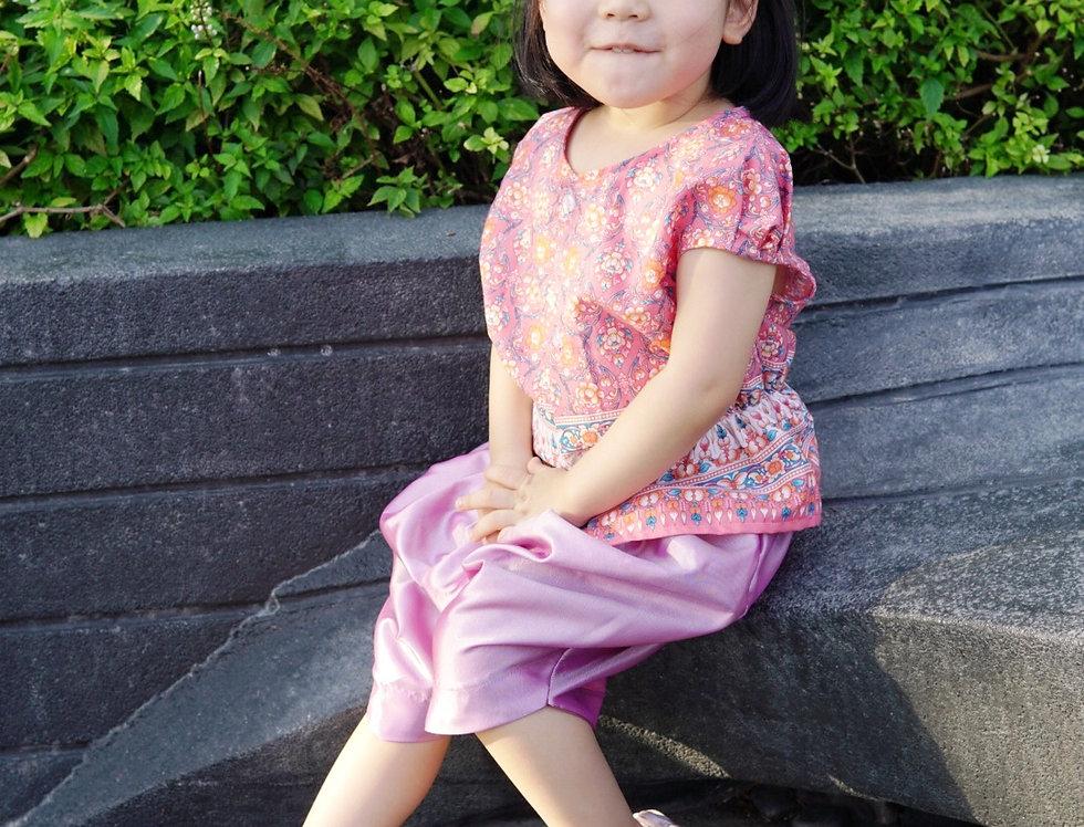 ชุดไทยเด็กหญิง J2 Mali - Pink