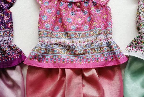 ชุดไทยเด็ก J9-Pink/coral