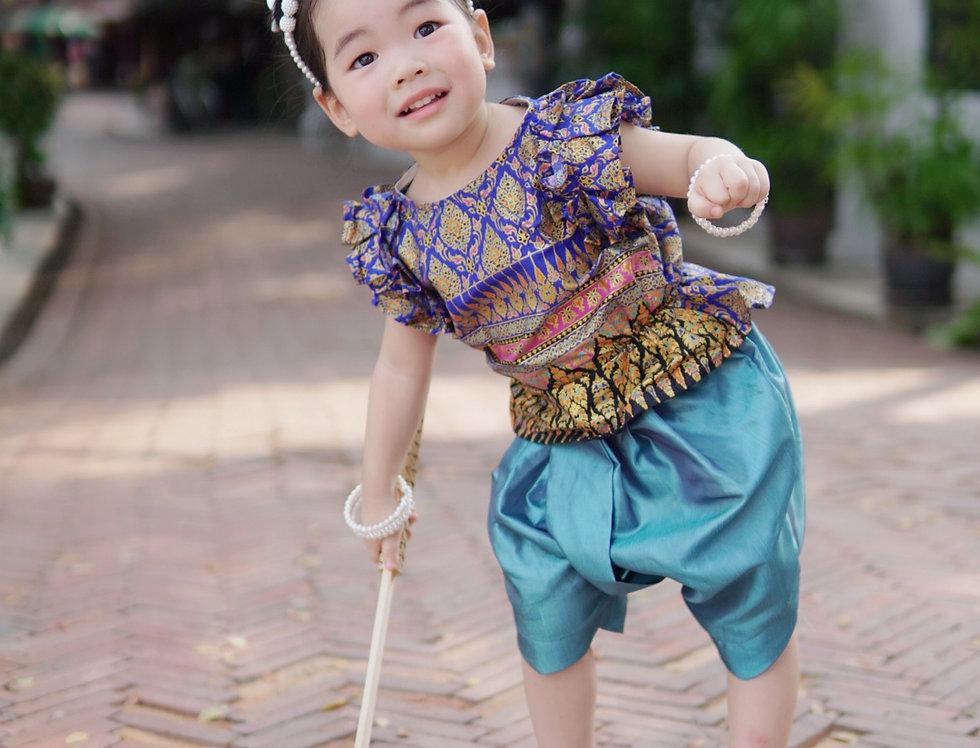 ชุดไทยเด็ก J3 Malai - Dark Blue